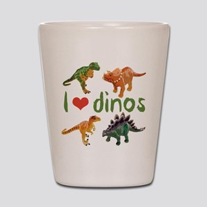 I Love Dinos Shot Glass